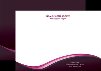 personnaliser modele de flyers web design violet noir fond noir MLIG81954