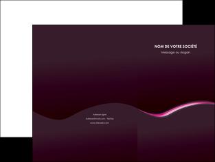 creation graphique en ligne pochette a rabat web design violet noir fond noir MLIG81968