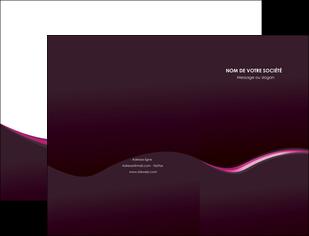 modele pochette a rabat web design violet noir fond noir MLIG81970