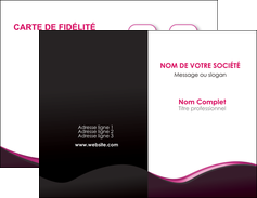 faire carte de visite web design violet noir fond noir MLGI81972