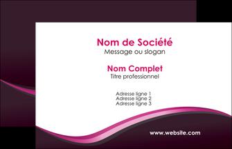 faire modele a imprimer carte de visite web design violet noir fond noir MLGI81982