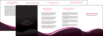 personnaliser maquette depliant 4 volets  8 pages  web design violet noir fond noir MLGI81984