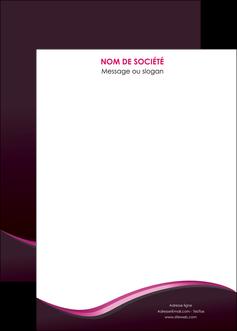 impression affiche web design violet noir fond noir MLGI81986