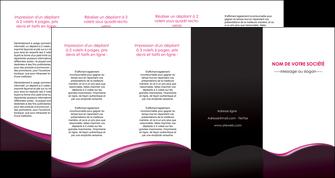 creer modele en ligne depliant 4 volets  8 pages  web design violet noir fond noir MLGI81988