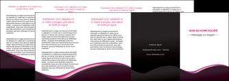 faire modele a imprimer depliant 4 volets  8 pages  web design violet noir fond noir MLGI81990