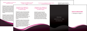 faire modele a imprimer depliant 4 volets  8 pages  web design violet noir fond noir MLIG81990