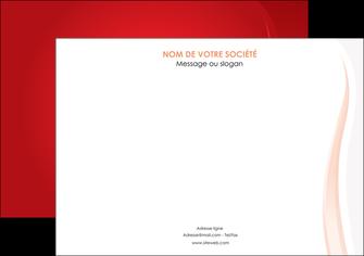 maquette en ligne a personnaliser affiche web design rouge couleur colore MIF82294