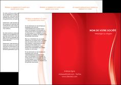maquette en ligne a personnaliser depliant 3 volets  6 pages  web design rouge couleur colore MIF82298