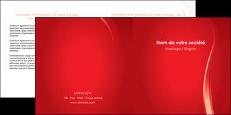 faire modele a imprimer depliant 2 volets  4 pages  web design rouge couleur colore MIF82302