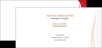 imprimer carte de correspondance web design rouge couleur colore MIF82310