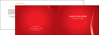 maquette en ligne a personnaliser depliant 2 volets  4 pages  web design rouge couleur colore MIF82318