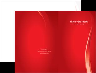 maquette en ligne a personnaliser pochette a rabat web design rouge couleur colore MIF82322