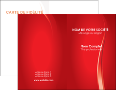 personnaliser maquette carte de visite web design rouge couleur colore MIF82324