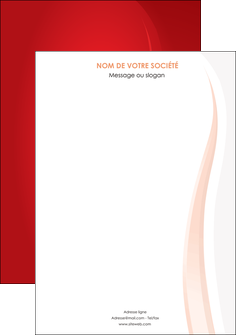 personnaliser maquette affiche web design rouge couleur colore MLIG82326