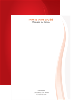 personnaliser modele de flyers web design rouge couleur colore MLIGBE82332