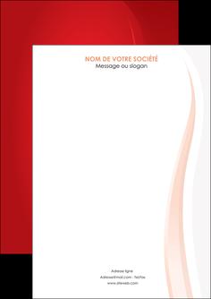 personnaliser modele de flyers web design rouge couleur colore MIF82332