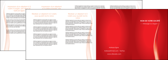 imprimer depliant 4 volets  8 pages  web design rouge couleur colore MLIGBE82336