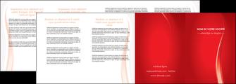 imprimer depliant 4 volets  8 pages  web design rouge couleur colore MIF82336