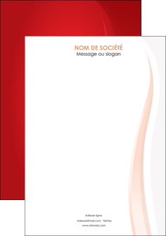 exemple flyers web design rouge couleur colore MIF82338