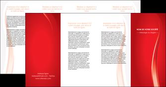 imprimerie depliant 4 volets  8 pages  web design rouge couleur colore MLIG82340