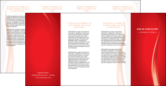 imprimerie depliant 4 volets  8 pages  web design rouge couleur colore MIF82340