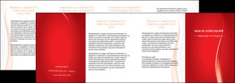 modele en ligne depliant 4 volets  8 pages  web design rouge couleur colore MIF82342