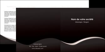 cree depliant 2 volets  4 pages  web design gris rose fond gris MLGI83702
