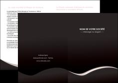 personnaliser modele de depliant 2 volets  4 pages  web design gris rose fond gris MLGI83712
