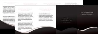 personnaliser modele de depliant 4 volets  8 pages  web design gris rose fond gris MLGI83742