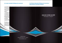 creation graphique en ligne depliant 2 volets  4 pages  web design abstrait arriere plan bande MIF84392