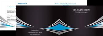 cree depliant 2 volets  4 pages  web design abstrait arriere plan bande MLGI84396