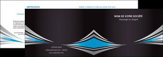 cree depliant 2 volets  4 pages  web design abstrait arriere plan bande MIF84398