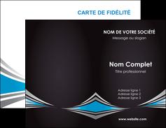Maquette En Ligne A Personnaliser Carte De Visite Web Design Abstrait Arriere Plan Bande MLGI84404