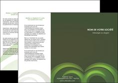 faire depliant 3 volets  6 pages  espaces verts texture contexture abstrait MLGI85454