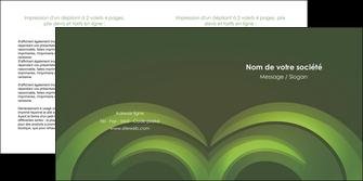 cree depliant 2 volets  4 pages  espaces verts texture contexture abstrait MIS85458