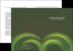modele depliant 2 volets  4 pages  espaces verts texture contexture abstrait MLGI85468