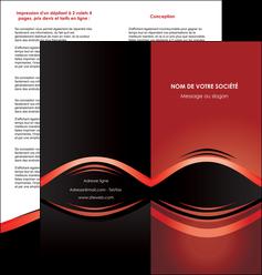 modele depliant 2 volets  4 pages  web design texture contexture abstrait MIF86270