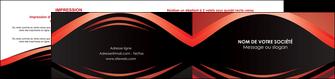 personnaliser modele de depliant 2 volets  4 pages  web design texture contexture abstrait MIF86278