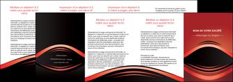 maquette en ligne a personnaliser depliant 4 volets  8 pages  web design texture contexture abstrait MIF86310