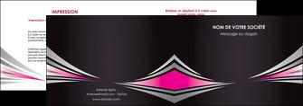 exemple depliant 2 volets  4 pages  restaurant menu restaurant liste menu rose MIF86476