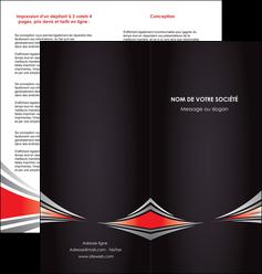 faire modele a imprimer depliant 2 volets  4 pages  web design texture contexture structure MIF86512