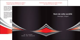 personnaliser maquette depliant 2 volets  4 pages  web design texture contexture structure MIF86514