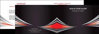 faire depliant 2 volets  4 pages  web design texture contexture structure MIF86528