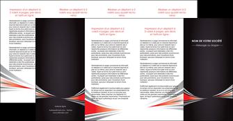 impression depliant 4 volets  8 pages  web design texture contexture structure MLGI86550