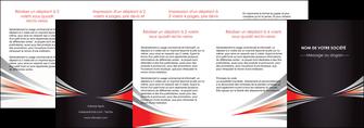 personnaliser modele de depliant 4 volets  8 pages  web design texture contexture structure MIF86552