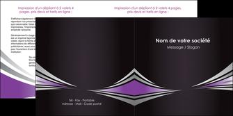 realiser depliant 2 volets  4 pages  web design texture contexture structure MIF86566