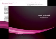 realiser depliant 2 volets  4 pages  web design texture contexture structure MLGI87162