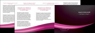impression depliant 4 volets  8 pages  web design texture contexture structure MLGI87170