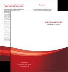 imprimer depliant 2 volets  4 pages  web design texture contexture structure MLIP87254