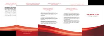 faire depliant 4 volets  8 pages  web design texture contexture structure MLIP87268